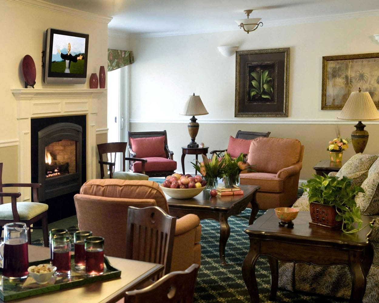 Clubhouse and commercial design randy trainor for Hamptons living room designs