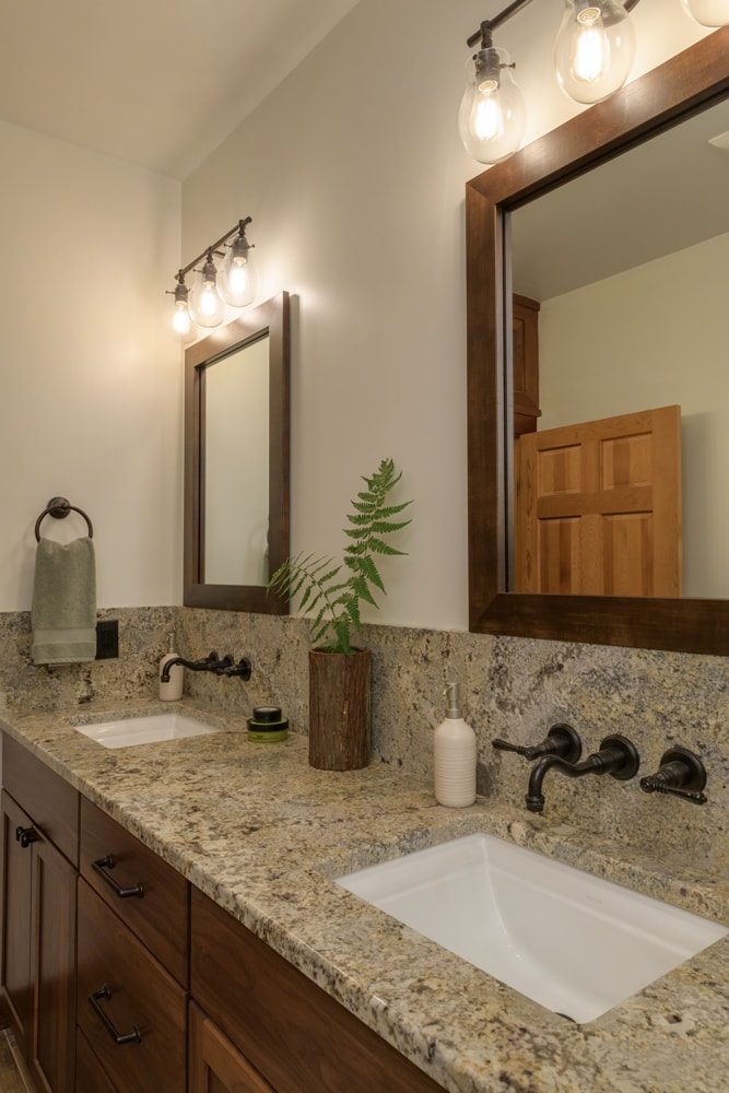 Mountain Bathroom Double Vanity Design